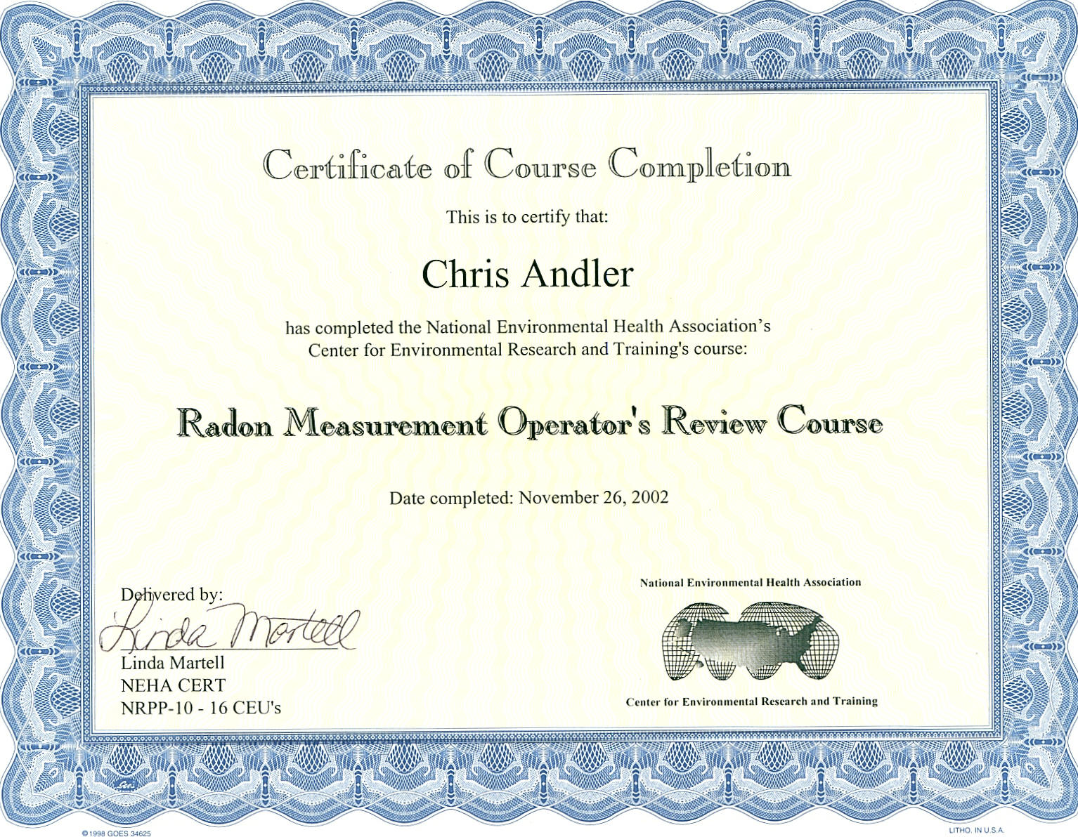 Licenses certifications radon training certification xflitez Gallery
